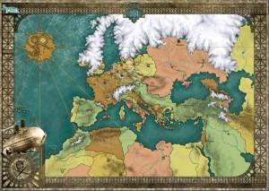 Die Karte des eiszeitlichen Europas von Hannah Möllmann und Oliver Graute. Als Print könnt ihr die Karte im A2-Format bei www.feder-und-schwert.de erwerben!